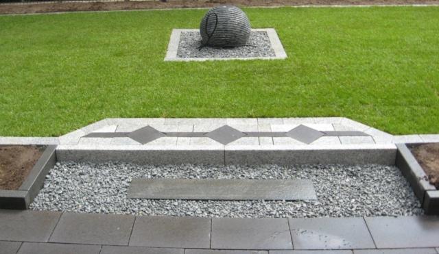 Dekoelemente anthrazit Granit